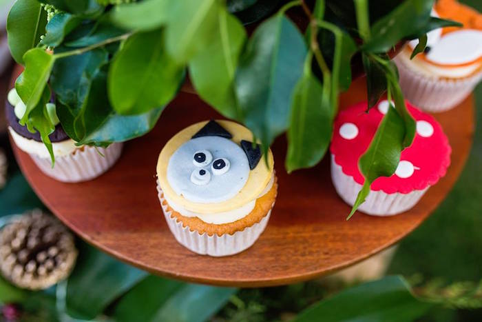 Woodland Cupcakes from a Woodland Wonder Birthday Party on Kara's Party Ideas | KarasPartyIdeas.com (16)