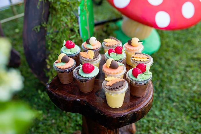 Woodland-inspired Pudding Cups from a Woodland Wonder Birthday Party on Kara's Party Ideas | KarasPartyIdeas.com (10)