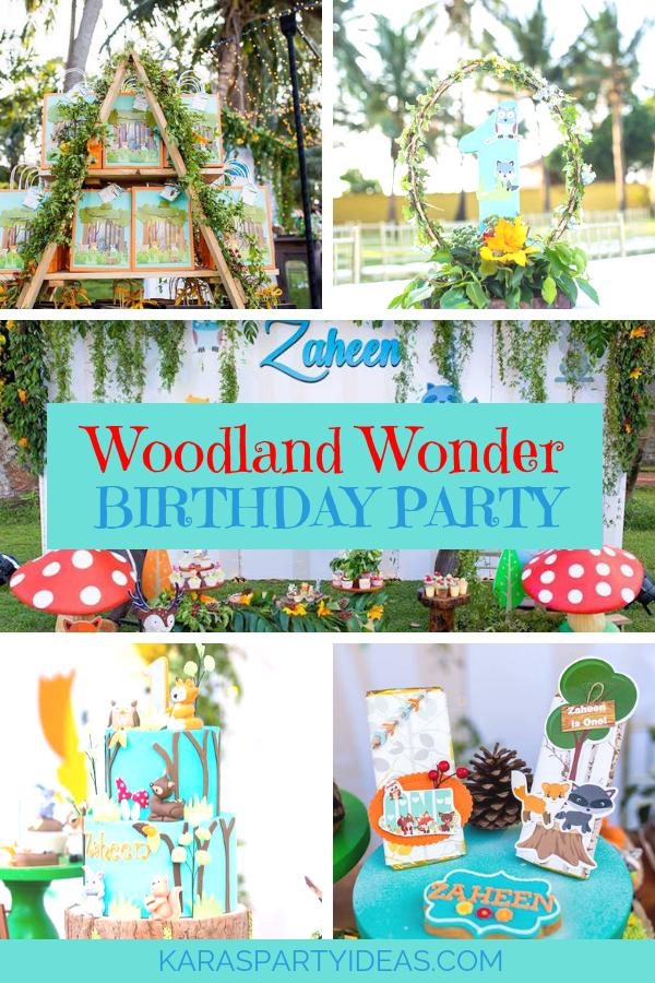 Woodland Wonder Birthday Party via Kara's Party Ideas - KarasPartyIdeas.com