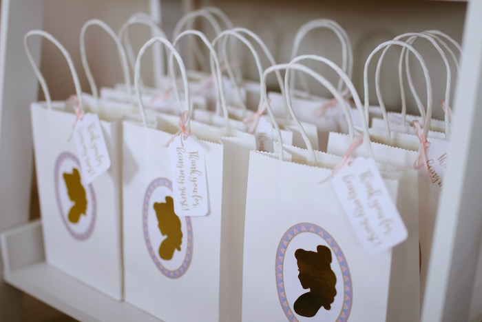 "Silhouette Favor Bags from a ""Be Our Guest"" Beauty & the Beast High Tea on Kara's Party Ideas 