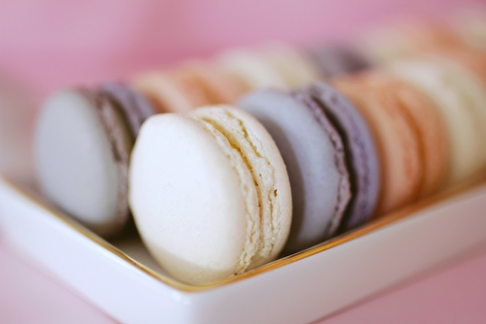 "French Macarons from a ""Be Our Guest"" Beauty & the Beast High Tea on Kara's Party Ideas 