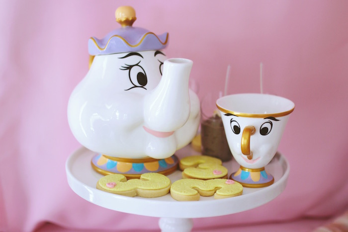"Mrs. Potts & Chip - Cookie Platter from a ""Be Our Guest"" Beauty & the Beast High Tea on Kara's Party Ideas 