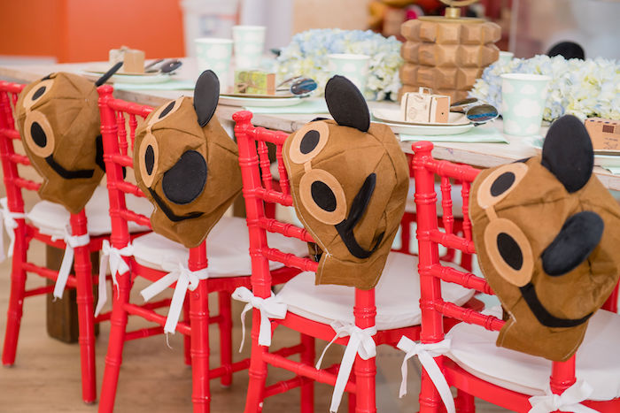 Mickey Mouse Aviator Hats + Chairs from an Aviator Mickey Mouse Birthday Party on Kara's Party Ideas | KarasPartyIdeas.com (41)