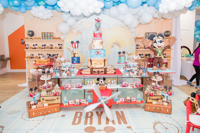 Aviator Mickey Mouse Dessert Table from an Aviator Mickey Mouse Birthday Party on Kara's Party Ideas | KarasPartyIdeas.com (37)
