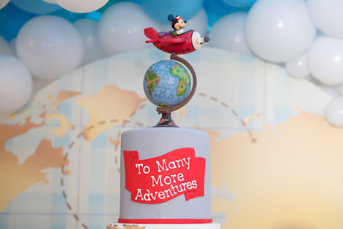 Aviator Mickey Mouse Cake Topper from an Aviator Mickey Mouse Birthday Party on Kara's Party Ideas | KarasPartyIdeas.com (35)
