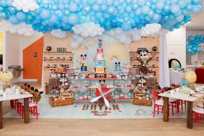 Aviator Mickey Mouse Birthday Party on Kara's Party Ideas | KarasPartyIdeas.com (51)