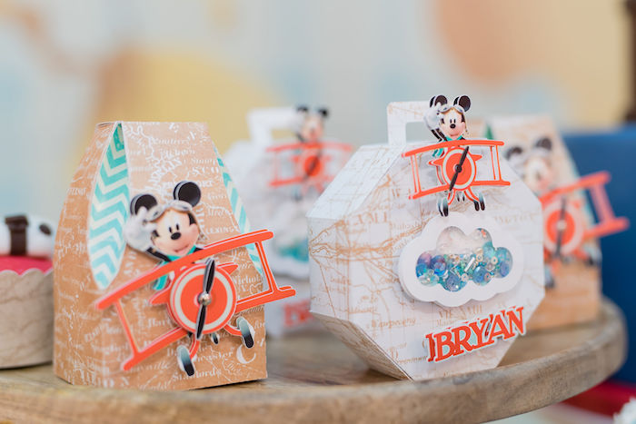 Aviator Mickey Mouse Favor Boxes from an Aviator Mickey Mouse Birthday Party on Kara's Party Ideas | KarasPartyIdeas.com (31)