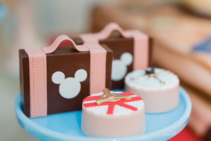 Covered Oreos & Suitcase Favors + Sweets from an Aviator Mickey Mouse Birthday Party on Kara's Party Ideas | KarasPartyIdeas.com (27)