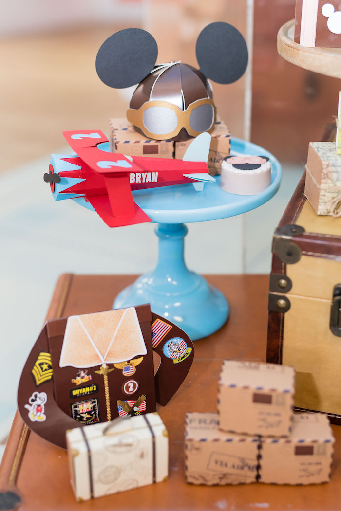 Aviator Party Table from an Aviator Mickey Mouse Birthday Party on Kara's Party Ideas | KarasPartyIdeas.com (25)