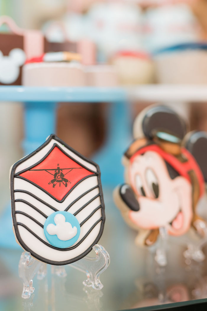 Mickey Mouse Aviator Cookie from an Aviator Mickey Mouse Birthday Party on Kara's Party Ideas | KarasPartyIdeas.com (20)
