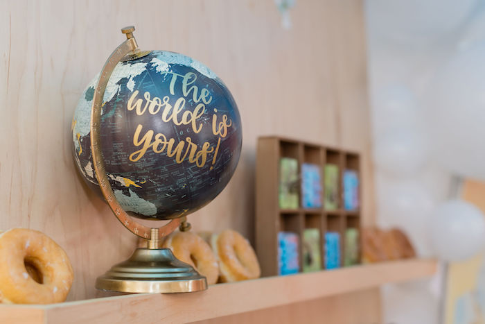 'The World is Yours' Globe from an Aviator Mickey Mouse Birthday Party on Kara's Party Ideas | KarasPartyIdeas.com (18)