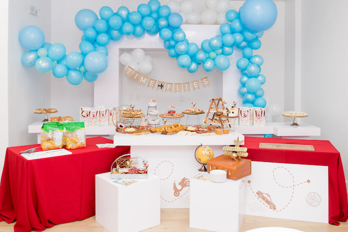 Aviator Themed Food Table From An Mickey Mouse Birthday Party On Karas Ideas