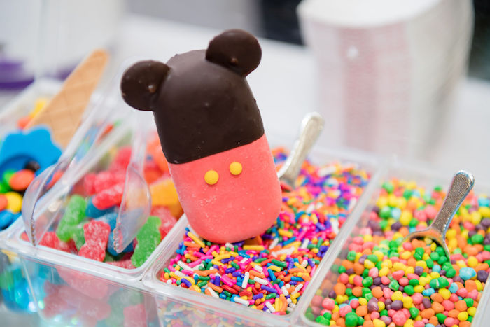 Mickey Mouse Ice Creams from an Aviator Mickey Mouse Birthday Party on Kara's Party Ideas | KarasPartyIdeas.com (12)
