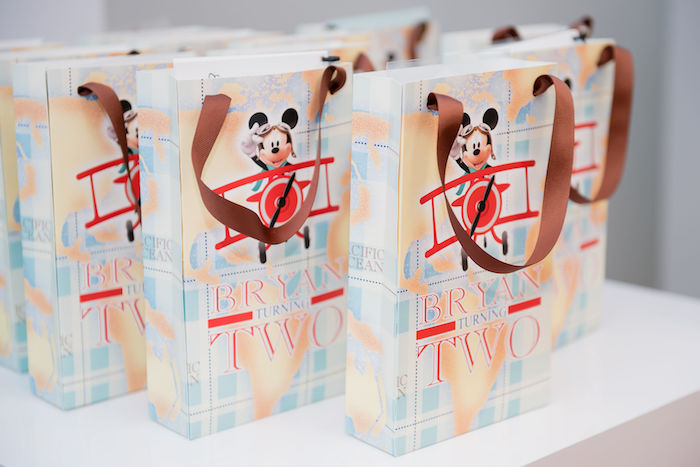Aviator Mickey Mouse Favor Bags from an Aviator Mickey Mouse Birthday Party on Kara's Party Ideas | KarasPartyIdeas.com (11)