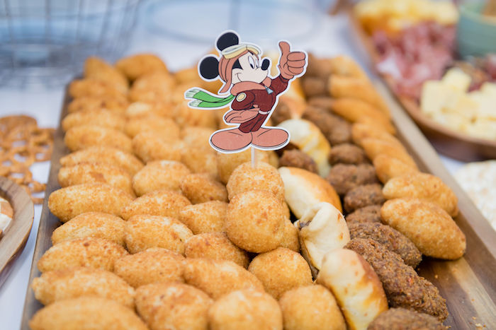 Food Plate from an Aviator Mickey Mouse Birthday Party on Kara's Party Ideas | KarasPartyIdeas.com (8)