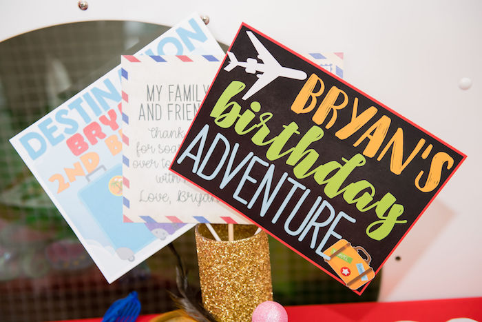 Photo Props from an Aviator Mickey Mouse Birthday Party on Kara's Party Ideas | KarasPartyIdeas.com (4)