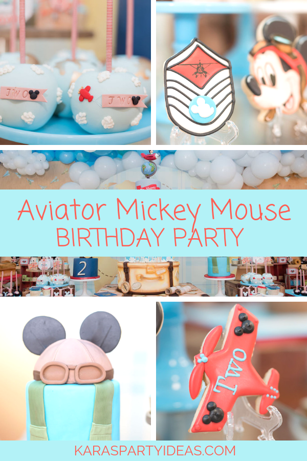 Aviator Mickey Mouse Birthday Party via Kara's Party Ideas - KarasPartyIdeas.com