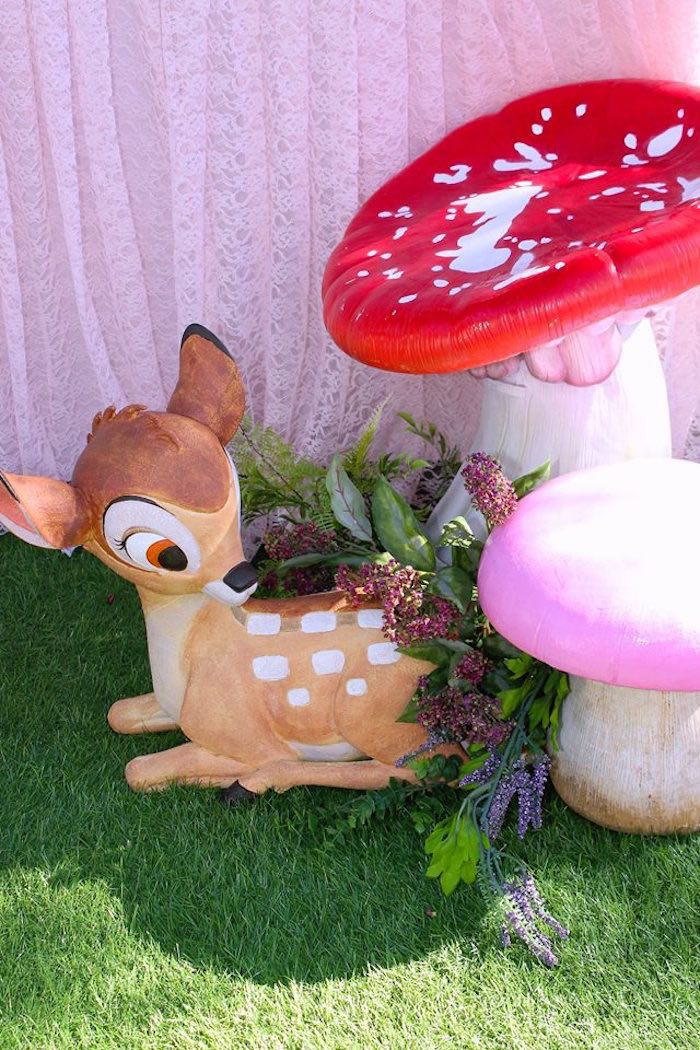 Bambi Prop from a Bambi Inspired Woodland Birthday Party on Kara's Party Ideas | KarasPartyIdeas.com (11)