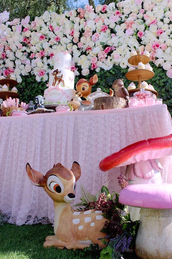 Life-sized Bambi Prop from a Bambi Inspired Woodland Birthday Party on Kara's Party Ideas | KarasPartyIdeas.com (5)