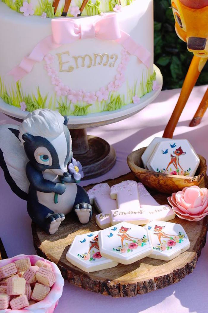 Flower's Cookies from a Bambi Inspired Woodland Birthday Party on Kara's Party Ideas | KarasPartyIdeas.com (23)