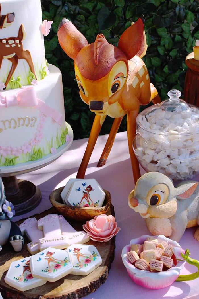 Bambi Themed Desserts + Character Props from a Bambi Inspired Woodland Birthday Party on Kara's Party Ideas | KarasPartyIdeas.com (4)
