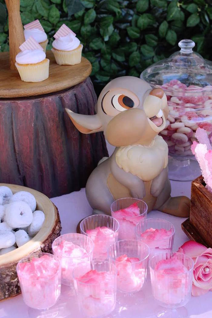Blossom (Cotton Candy) Cups from a Bambi Inspired Woodland Birthday Party on Kara's Party Ideas | KarasPartyIdeas.com (3)