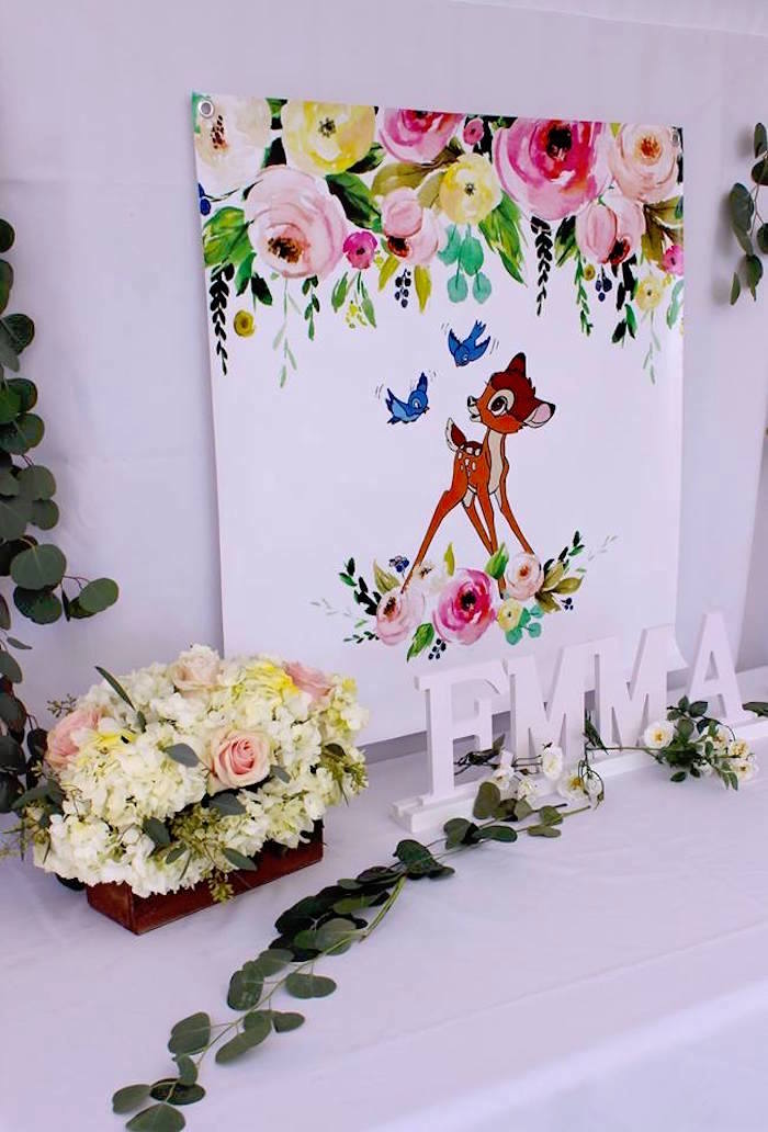 Bambi Themed Highlight Table from a Bambi Inspired Woodland Birthday Party on Kara's Party Ideas | KarasPartyIdeas.com (21)