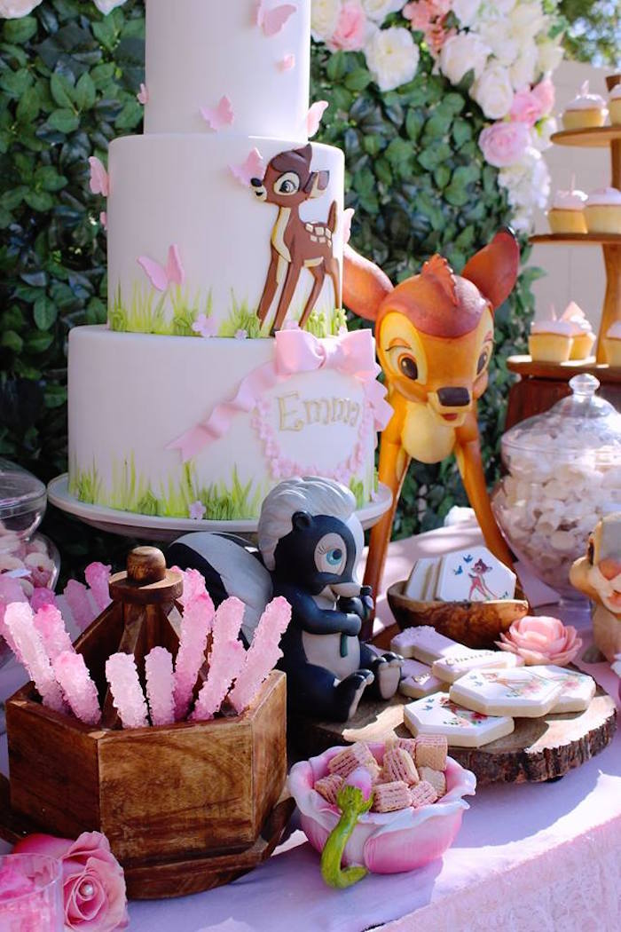 Bambi Sweet Table from a Bambi Inspired Woodland Birthday Party on Kara's Party Ideas | KarasPartyIdeas.com (17)