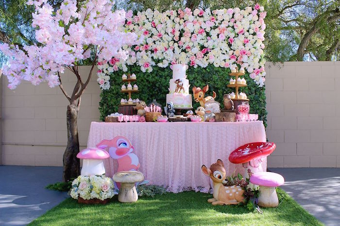 Disney's Bambi-inspired Dessert Table from a Bambi Inspired Woodland Birthday Party on Kara's Party Ideas | KarasPartyIdeas.com (15)