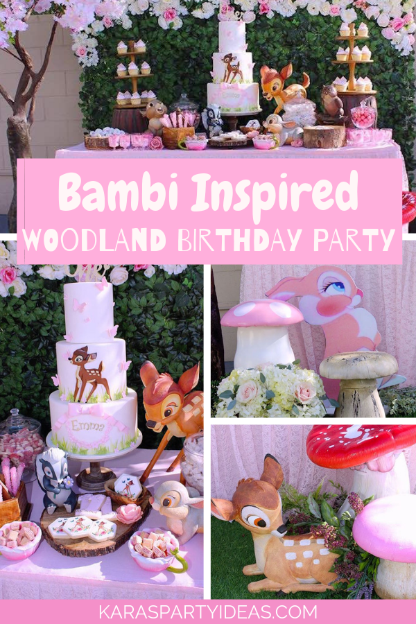 Bambi Inspired Woodland Birthday Party via Kara's Party Ideas - KarasPartyIdeas.com