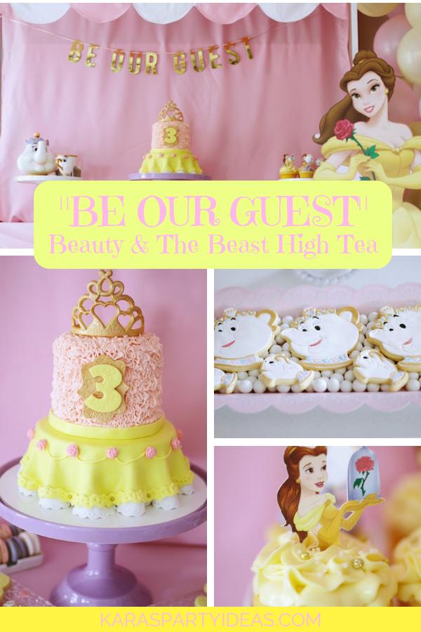 Be our Guest Beauty & The Beast High Tea via Kara's Party Ideas - KarasPartyIdeas.com