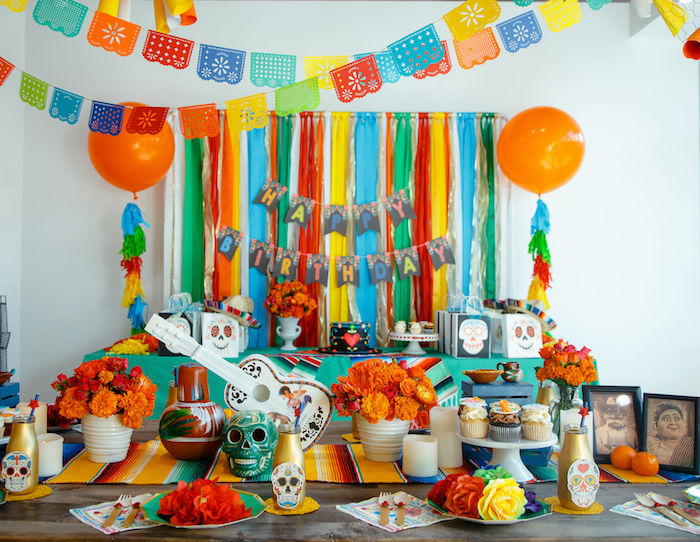 Coco + Day of the Dead Birthday Party on Kara's Party Ideas | KarasPartyIdeas.com (21)
