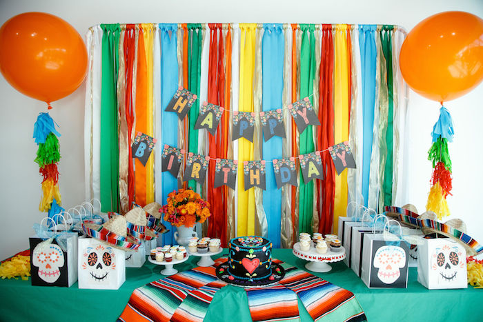 Coco Themed Dessert Table from a Coco + Day of the Dead Birthday Party on Kara's Party Ideas | KarasPartyIdeas.com (20)