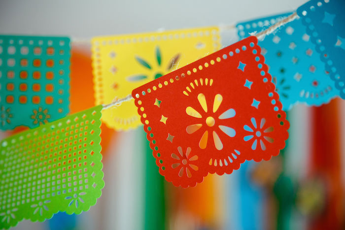 Papel Picado Banners from a Coco + Day of the Dead Birthday Party on Kara's Party Ideas | KarasPartyIdeas.com (14)