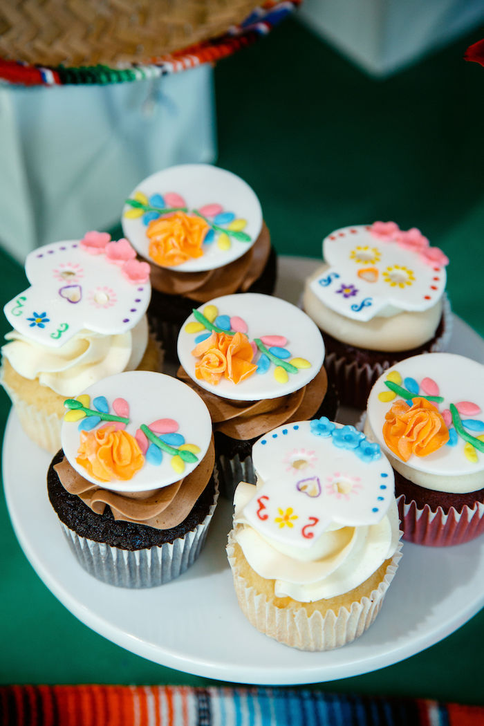 Coco Themed Cupcake Toppers from a Coco + Day of the Dead Birthday Party on Kara's Party Ideas | KarasPartyIdeas.com (30)