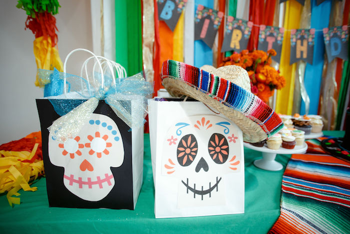 Day of the Dead Gift Bags from a Coco + Day of the Dead Birthday Party on Kara's Party Ideas | KarasPartyIdeas.com (9)