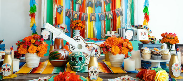 Coco + Day of the Dead Birthday Party on Kara's Party Ideas | KarasPartyIdeas.com (5)