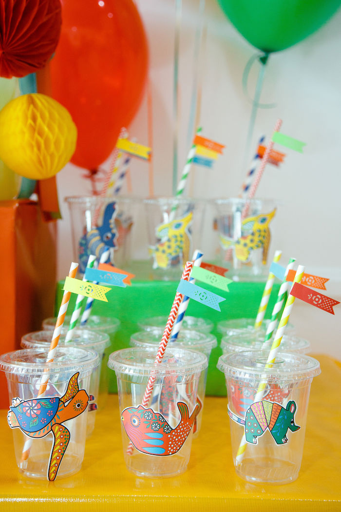 Fiesta Cups from a Coco + Day of the Dead Birthday Party on Kara's Party Ideas | KarasPartyIdeas.com (27)