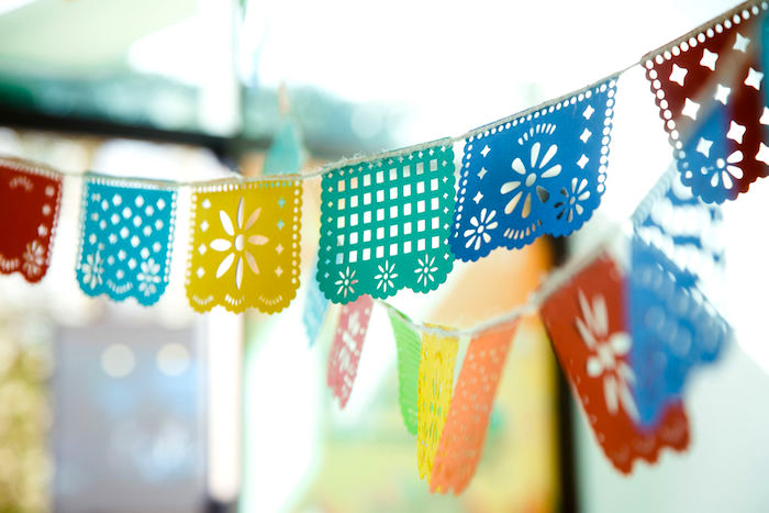 Papel Picado Banners from a Coco + Day of the Dead Birthday Party on Kara's Party Ideas | KarasPartyIdeas.com (25)