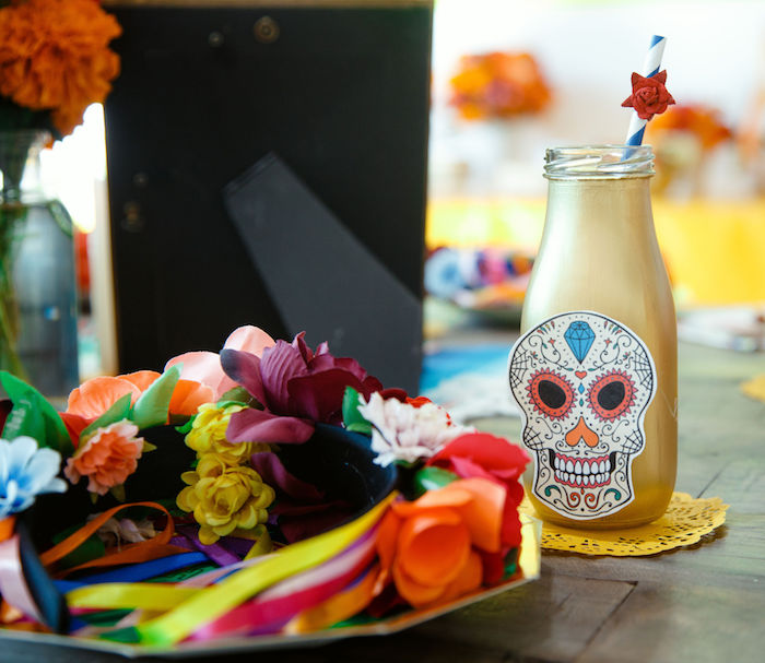 Coco-inspired Table Setting from a Coco + Day of the Dead Birthday Party on Kara's Party Ideas | KarasPartyIdeas.com (23)