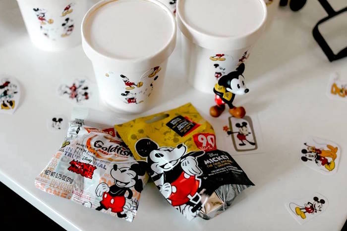 Favors from a DIY Modern Throwback Mickey Mouse Birthday Party on Kara's Party Ideas | KarasPartyIdeas.com (12)
