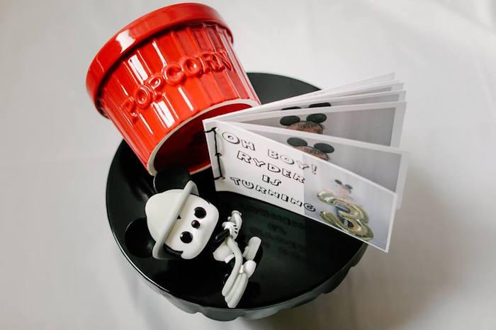 Decor from a DIY Modern Throwback Mickey Mouse Birthday Party on Kara's Party Ideas | KarasPartyIdeas.com (23)