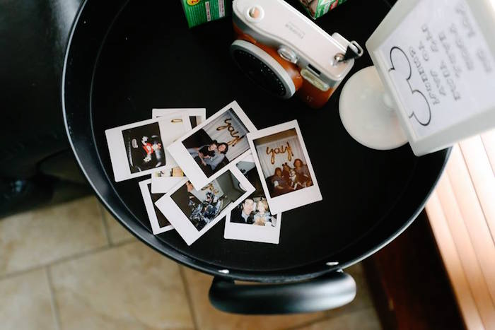 Instax Photo Boot from a DIY Modern Throwback Mickey Mouse Birthday Party on Kara's Party Ideas | KarasPartyIdeas.com (22)