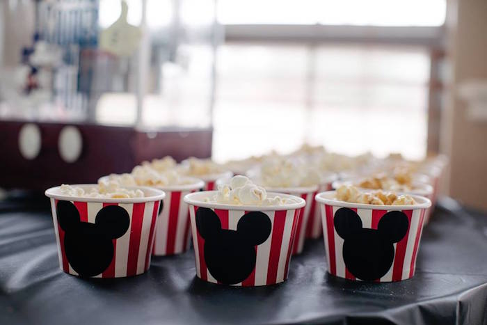 Mickey Mouse Popcorn Cup from a DIY Modern Throwback Mickey Mouse Birthday Party on Kara's Party Ideas | KarasPartyIdeas.com (19)