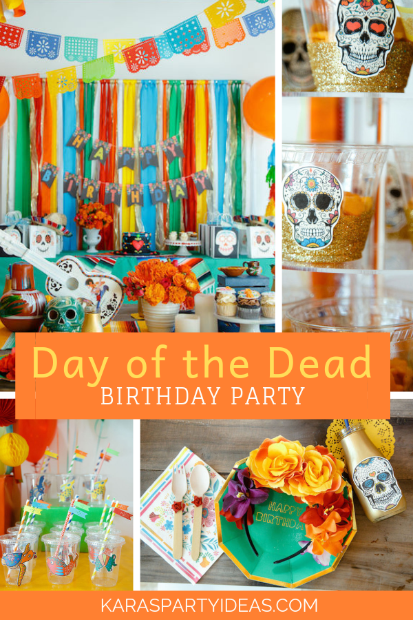 Coco Day of the Dead Birthday Party via Kara's Party Ideas - KarasPartyIdeas