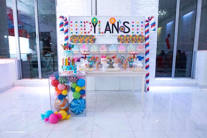 Candy Land Themed Dessert Table from Dylan's Candy Bar Inspired Birthday Party on Kara's Party Ideas | KarasPartyIdeas.com (16)