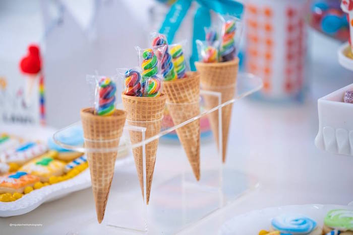 Candy Cones from Dylan's Candy Bar Inspired Birthday Party on Kara's Party Ideas | KarasPartyIdeas.com (14)
