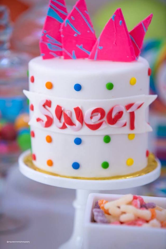 SWEET Cake from Dylan's Candy Bar Inspired Birthday Party on Kara's Party Ideas | KarasPartyIdeas.com (13)