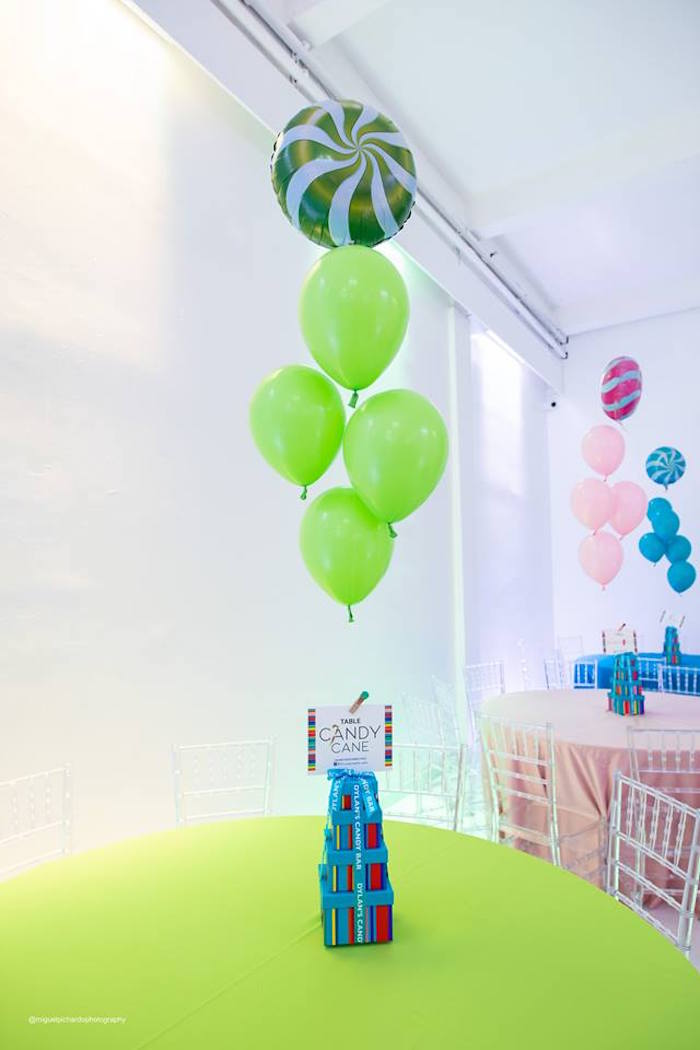 Candy Land Guest Tables from Dylan's Candy Bar Inspired Birthday Party on Kara's Party Ideas | KarasPartyIdeas.com (12)