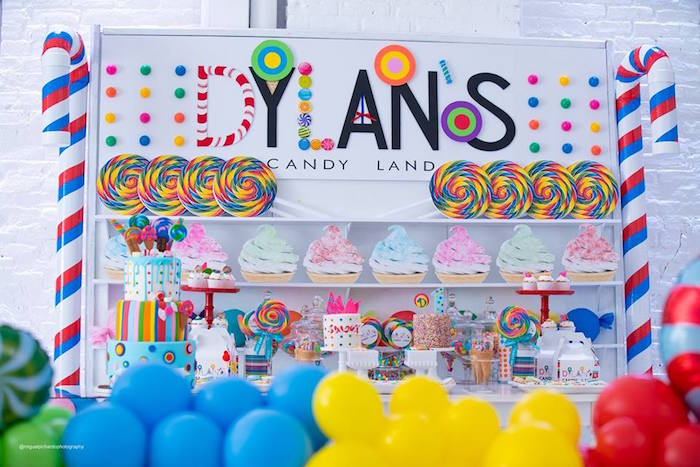 Candy Land Dessert Table from Dylan's Candy Bar Inspired Birthday Party on Kara's Party Ideas | KarasPartyIdeas.com (10)